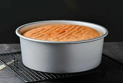 Tosnail Aluminum Round Cake Pan with Removable