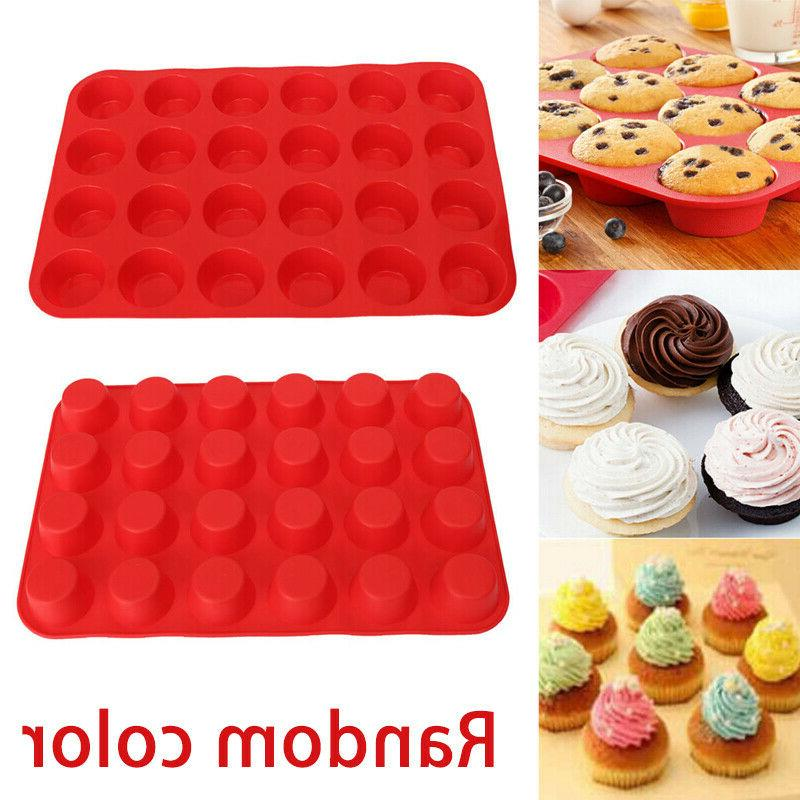 24 Cavity CupCake Cookie Chocolate Mould Pan Tray