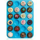 24 Cavity Muffin Silicone Mould Cookies Cupcake Pan Soap Tra