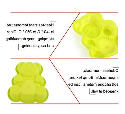 4 Bear Silicone Cake Molds Bear Dessert Mold Baking for Cake