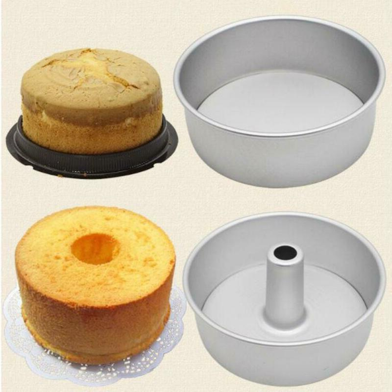 "6"" 8"" Aluminum Alloy Bottom Round Chiffon Cake Baking Mould"