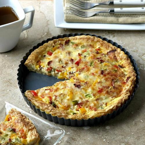 "9"" Non-Stick Removable Quiche Pie Kitchen Baking Pan Mold"