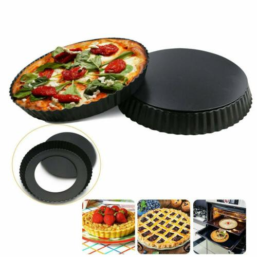 "9"" Non-Stick Bottom Quiche Pan Pie Kitchen Mold"