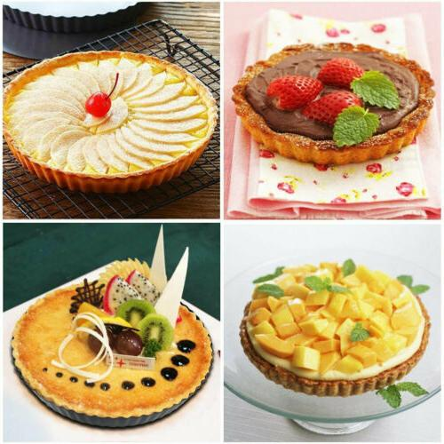 "9"" Non-Stick Removable Bottom Quiche Tart Kitchen Baking Mold"