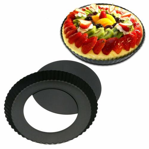 9 non stick removable bottom quiche tart
