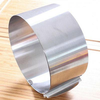 "Adjustable Stainless Steel Mousse Cake Ring Mold 6""-12"" Cake"