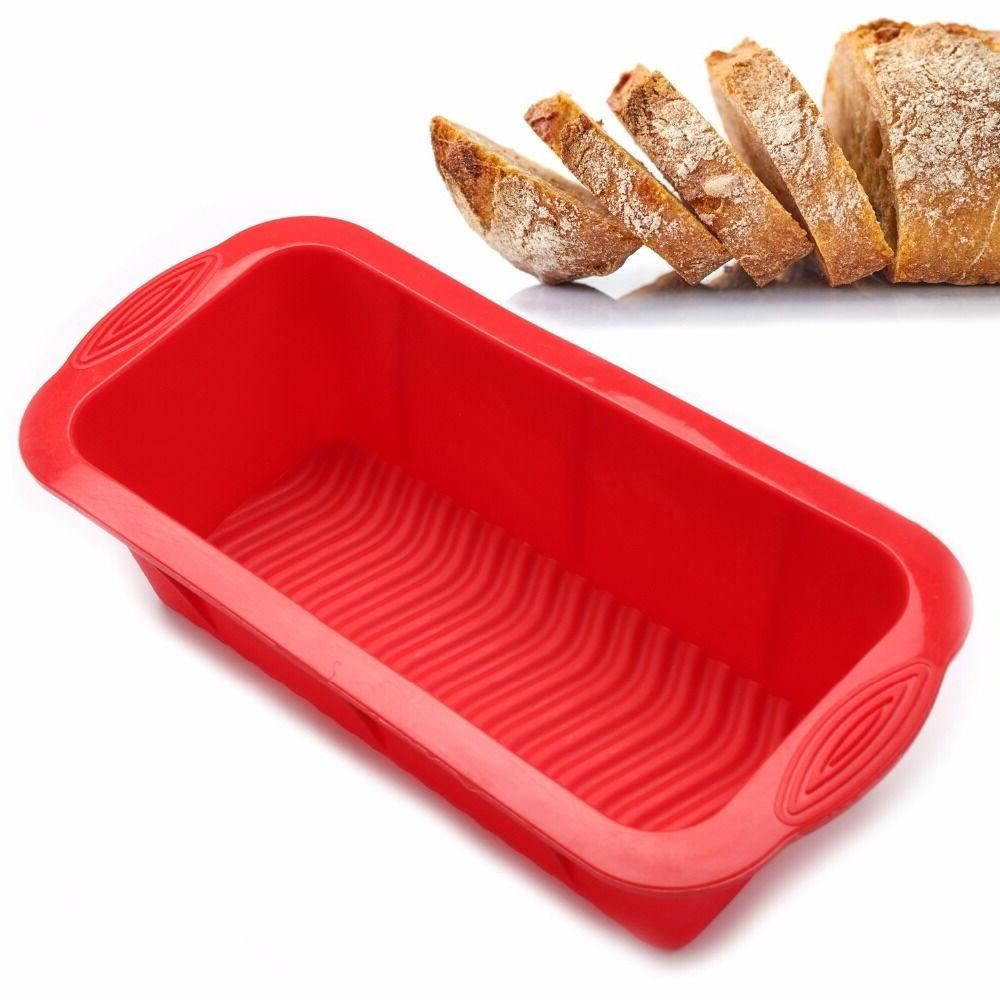 Bread Mold Silicone Rectangle Loaf Pan Cake Nonstick home ma