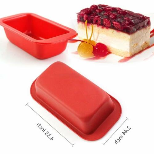 Food-Grade Silicone Loaf Square Bread Cake Mold Baking Pan