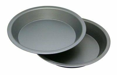 """OvenStuff Non-Stick 9"""" Cake/Pie Pans, Set of Two - American-"""