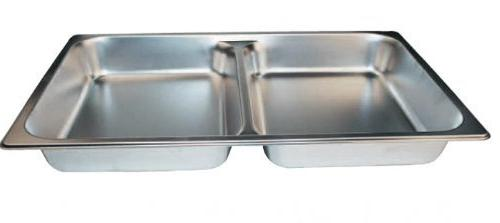 Round Divided Food Pan for 6 Qt Chafer