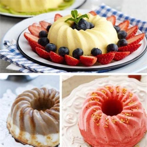 Silicone Bundt Pan Ring Shaped Cake Mold Bakeware Tray Kitch