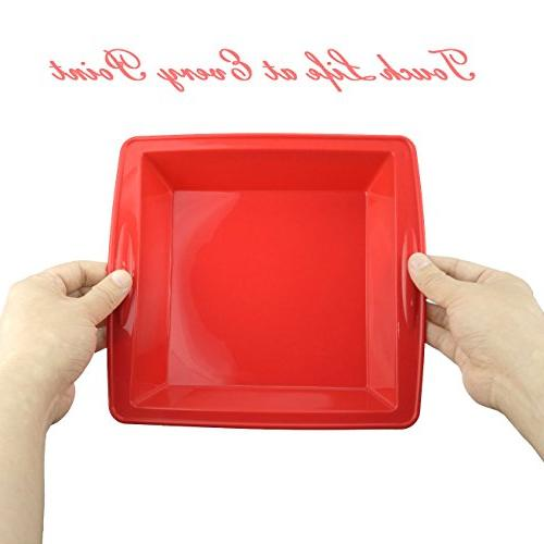 Silicone Pan, Nonstick Bakeware Baking Mould Brownie Chocolate Pie Pizza and brownies