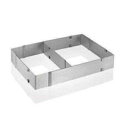 Silver color Stainless Steel Adjustable Rectangular Cake Pan