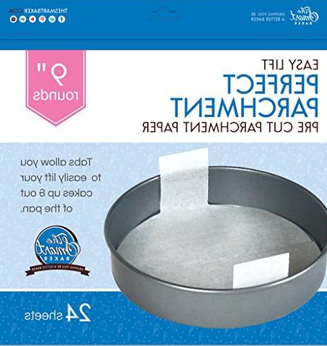 The Baker 9 inch Perfect Parchment Paper - Cake Pans.As on Shark Tank