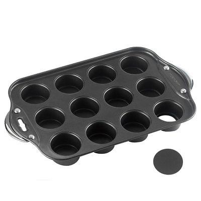 Tosnail 12 Cavity Mini Cheesecake Pan with Handles & Removab