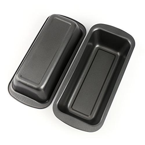 """Tosnail Long Non-stick Loaf Pan Set, 9"""" x 3"""" - Pack of 2"""