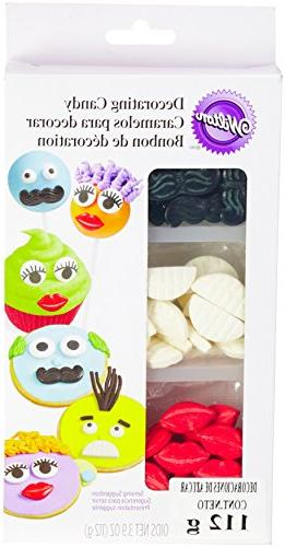 Wilton 710-1196 Icing Candy Decorating Stencil, Lips and Mus