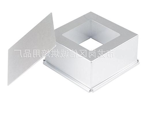 Astra Aluminum Square Pan Removable 8 x 8 Inch 3