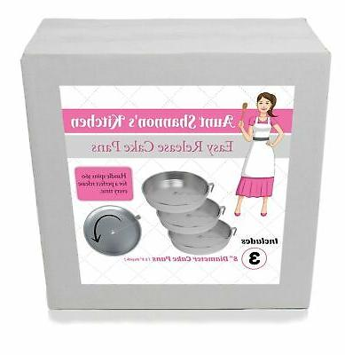"Aunt Shannon's Easy 8"" Cake Set 3 Release for"