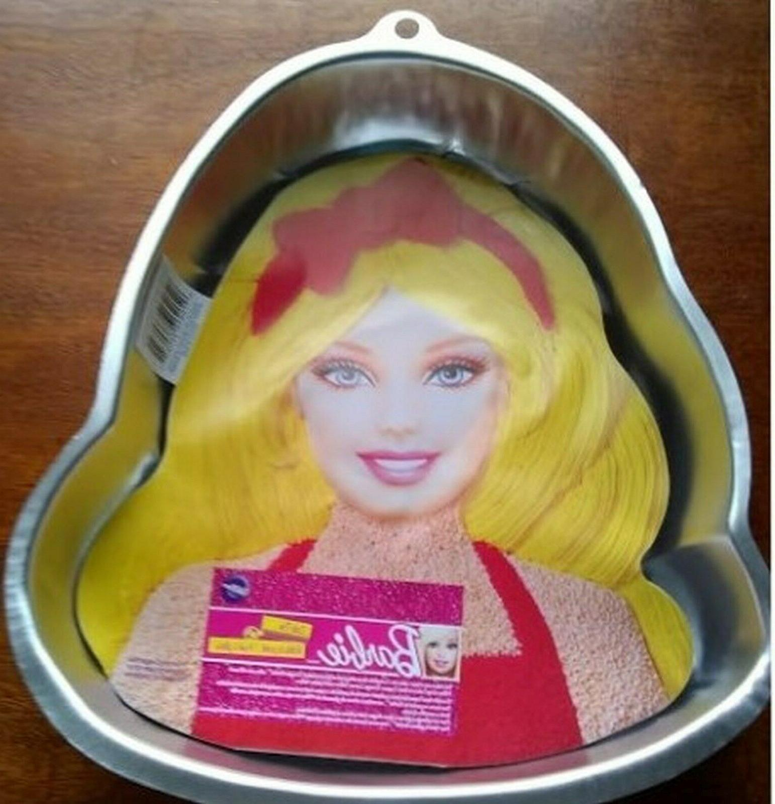 WILTON BARBIE CAKE PAN with Face Plate Decor & Instructions