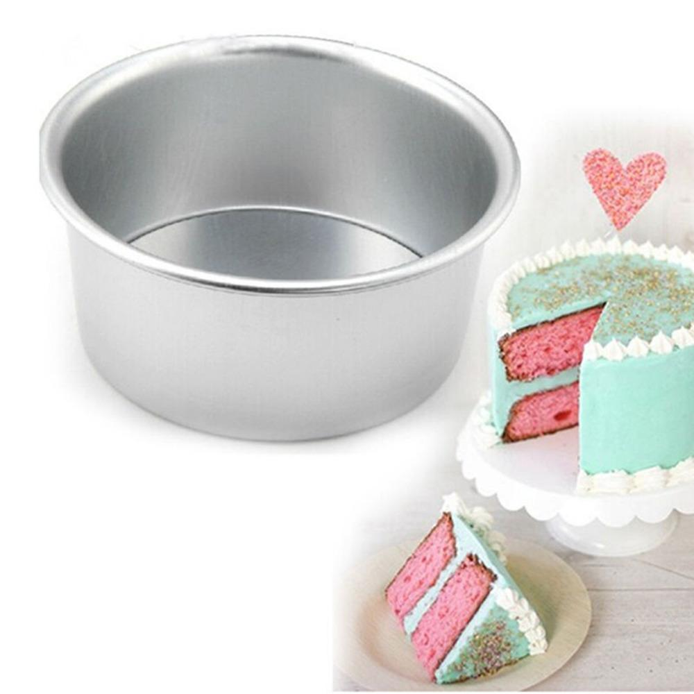 Brand New <font><b>Home</b></font> <font><b>Cake</b></font> Baking Mould Bakeware Tool Alloy Non-stick 2/4/6/8 Inch Round