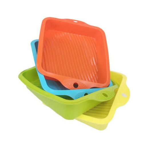 cake baking mold square silicone mould pan