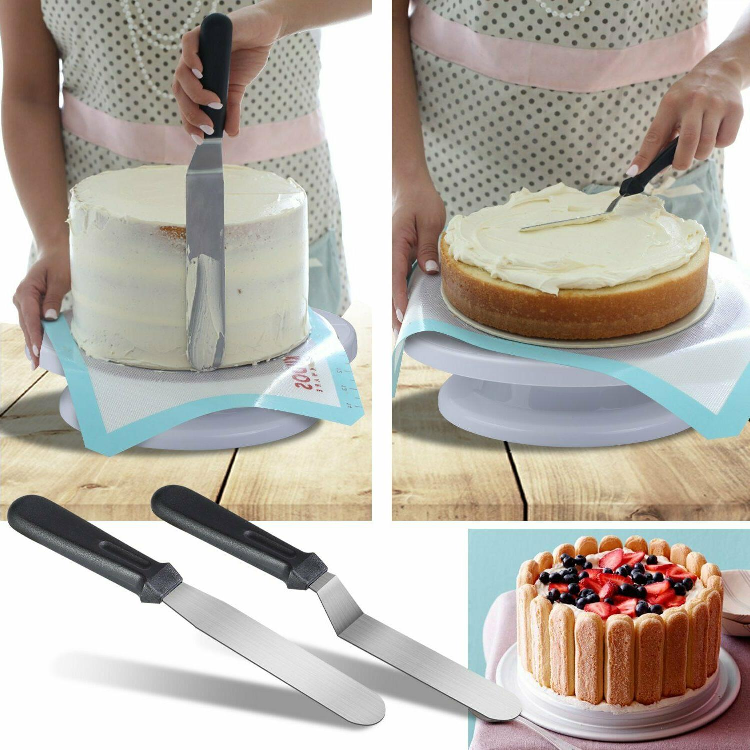 Cake Decorating Set Turntable Pan