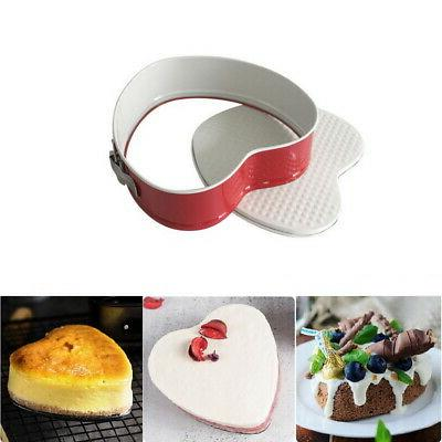 Carbon Springform Cake Pan Removable Round/Heart/Square
