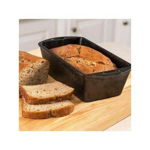 cast iron loaf pan bread meat cake