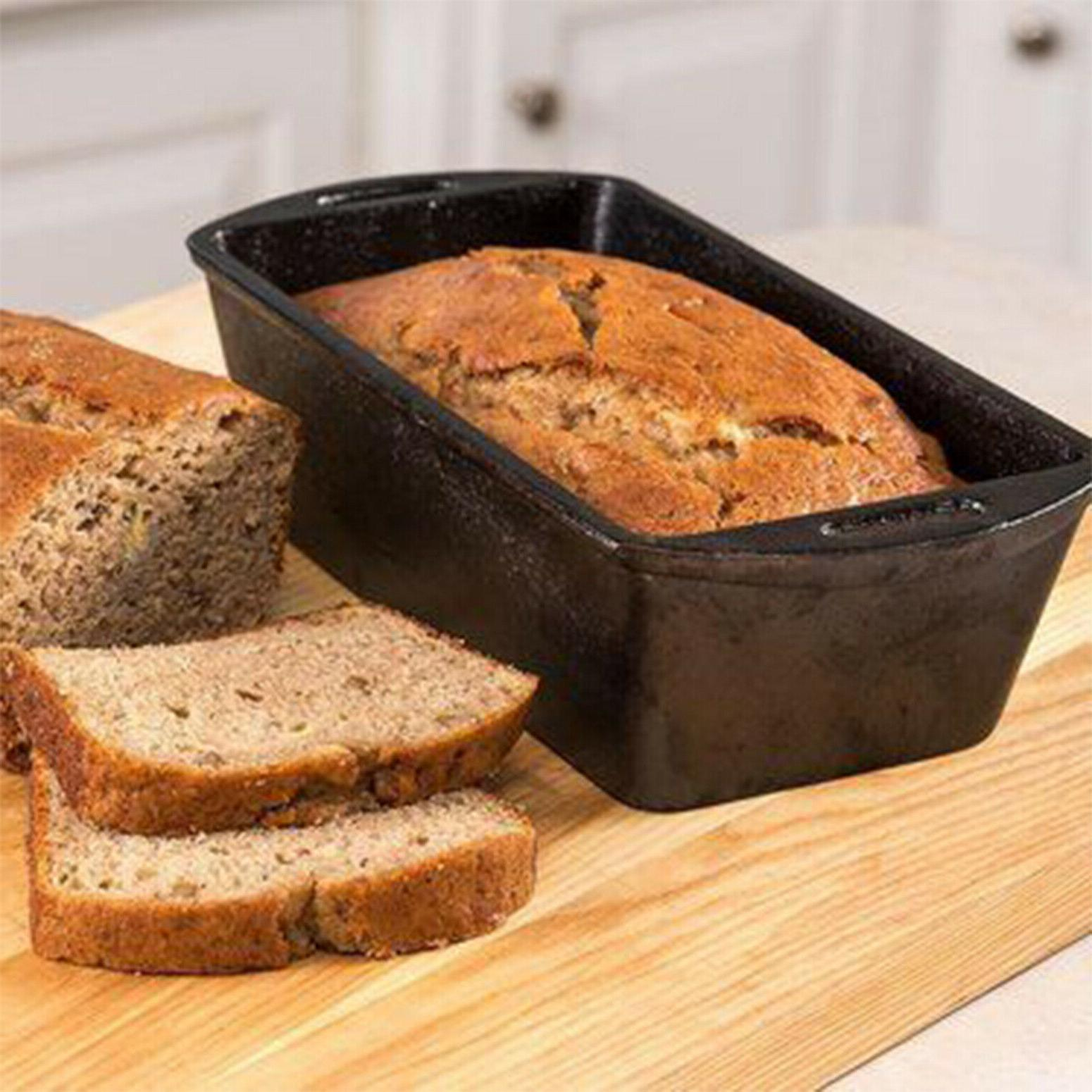 Cast Loaf Seasoned Cooking Cake Meat Home Kitchen Non