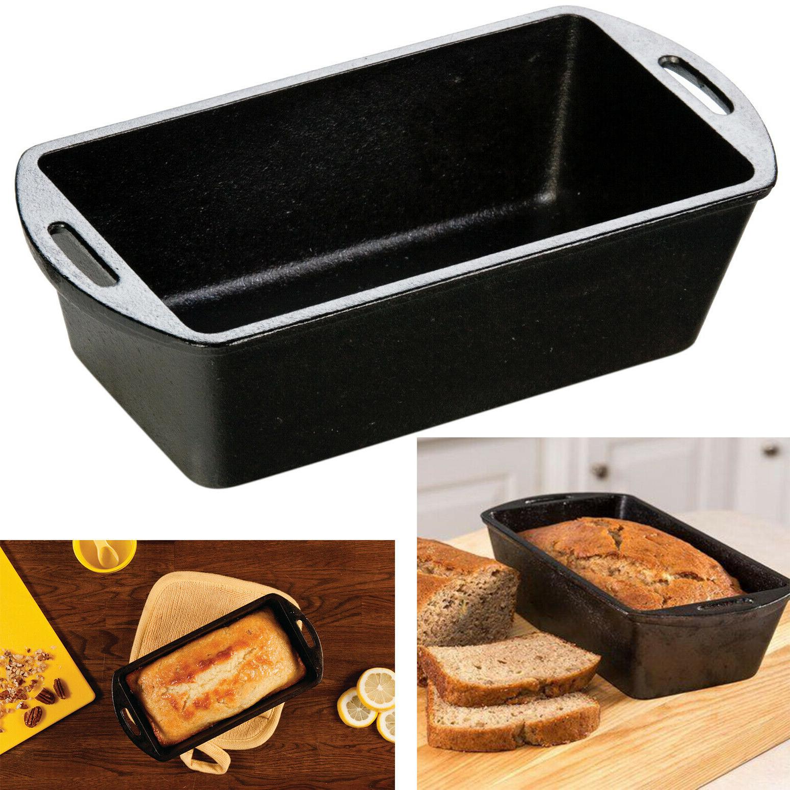 cast iron loaf pan seasoned cooking bread
