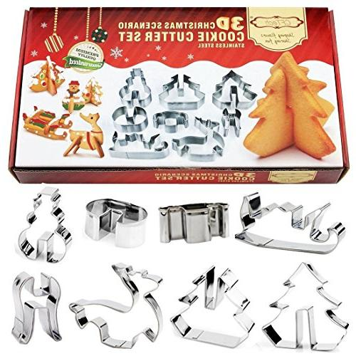 christmas cookie cutters stainless steel