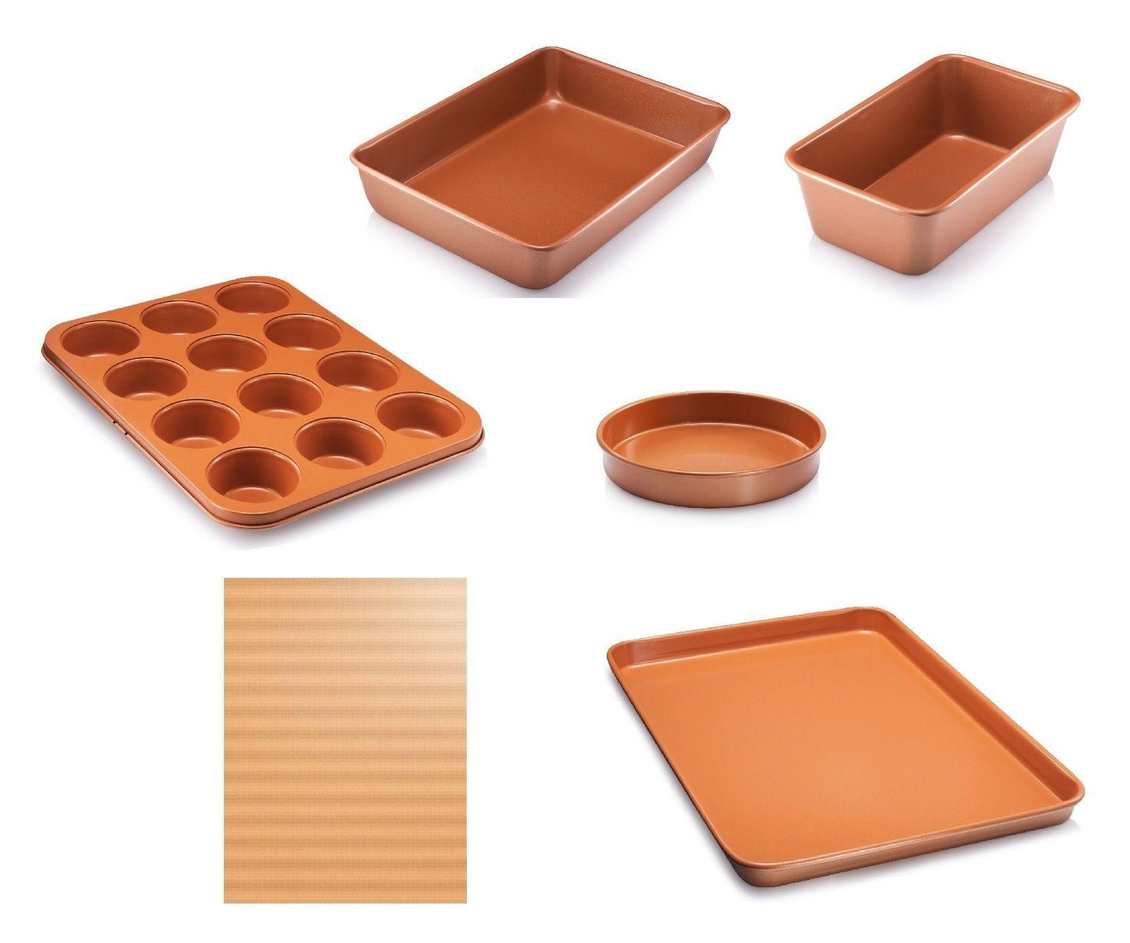 Copper Nonstick Bakeware Baking Loaf Muffin Cake Pan Cookie