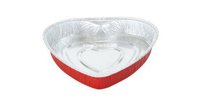Disposable Aluminum Heart Shaped Cake Pans/ Goodies, Gifts a