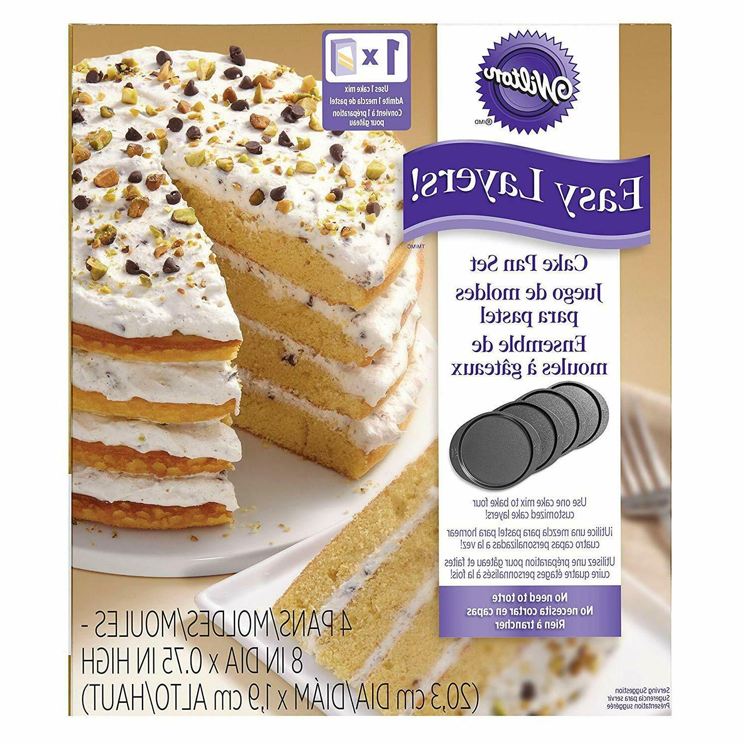 Wilton Layer Cake Pans 4-Piece 2105-0188 70896121882