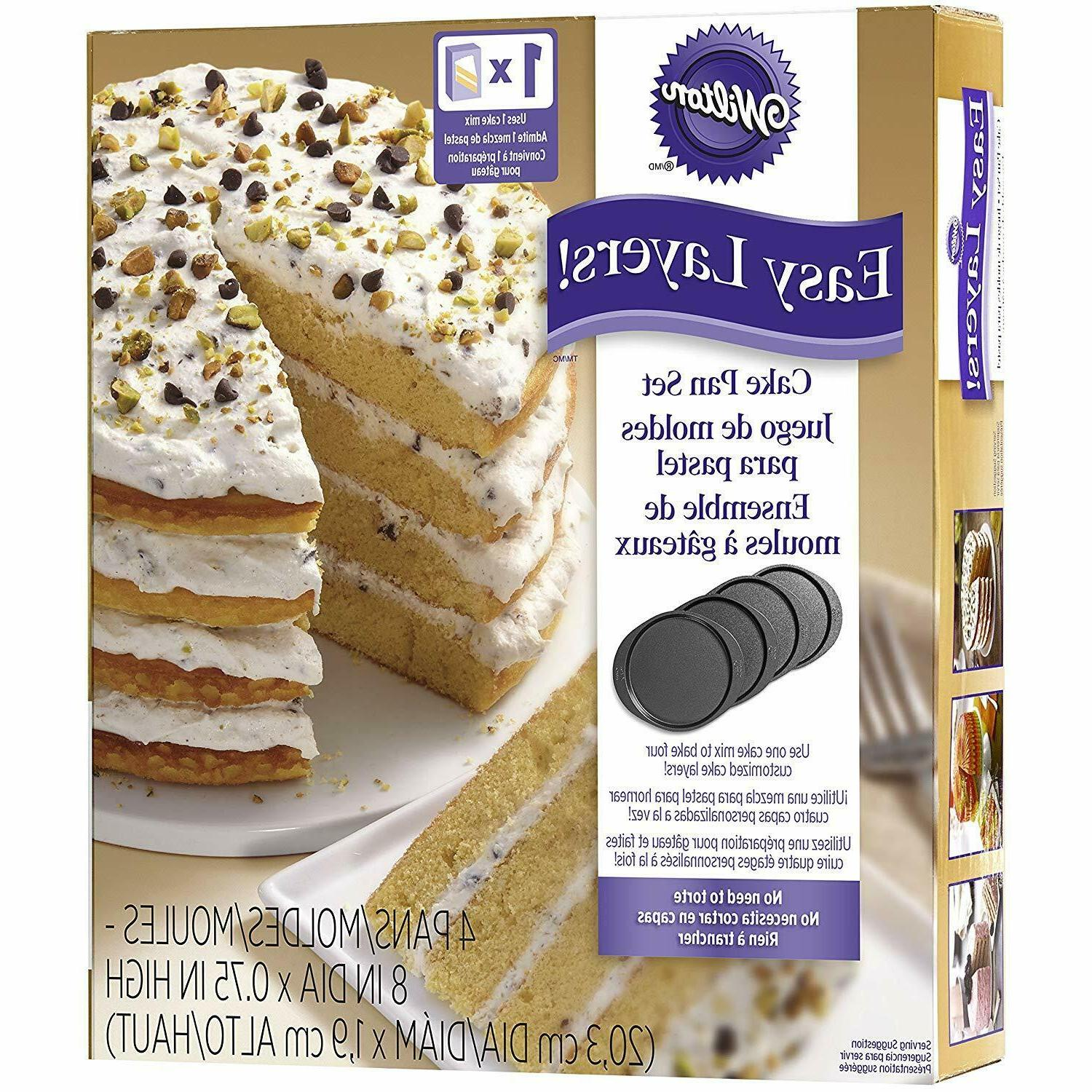 Wilton Easy Layer Cake 4-Piece 2105-0188 NEW