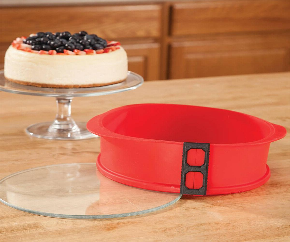 Home Cake Pan with Glass Bottom 9 Inc