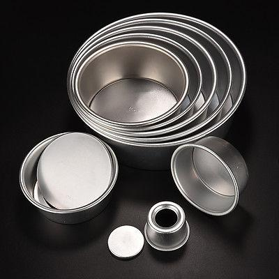 2/4/5/6/7/8/9/10 Cake Baking Mould Aluminum Round Bakeware DIY