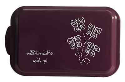 laser engraved cake pan w