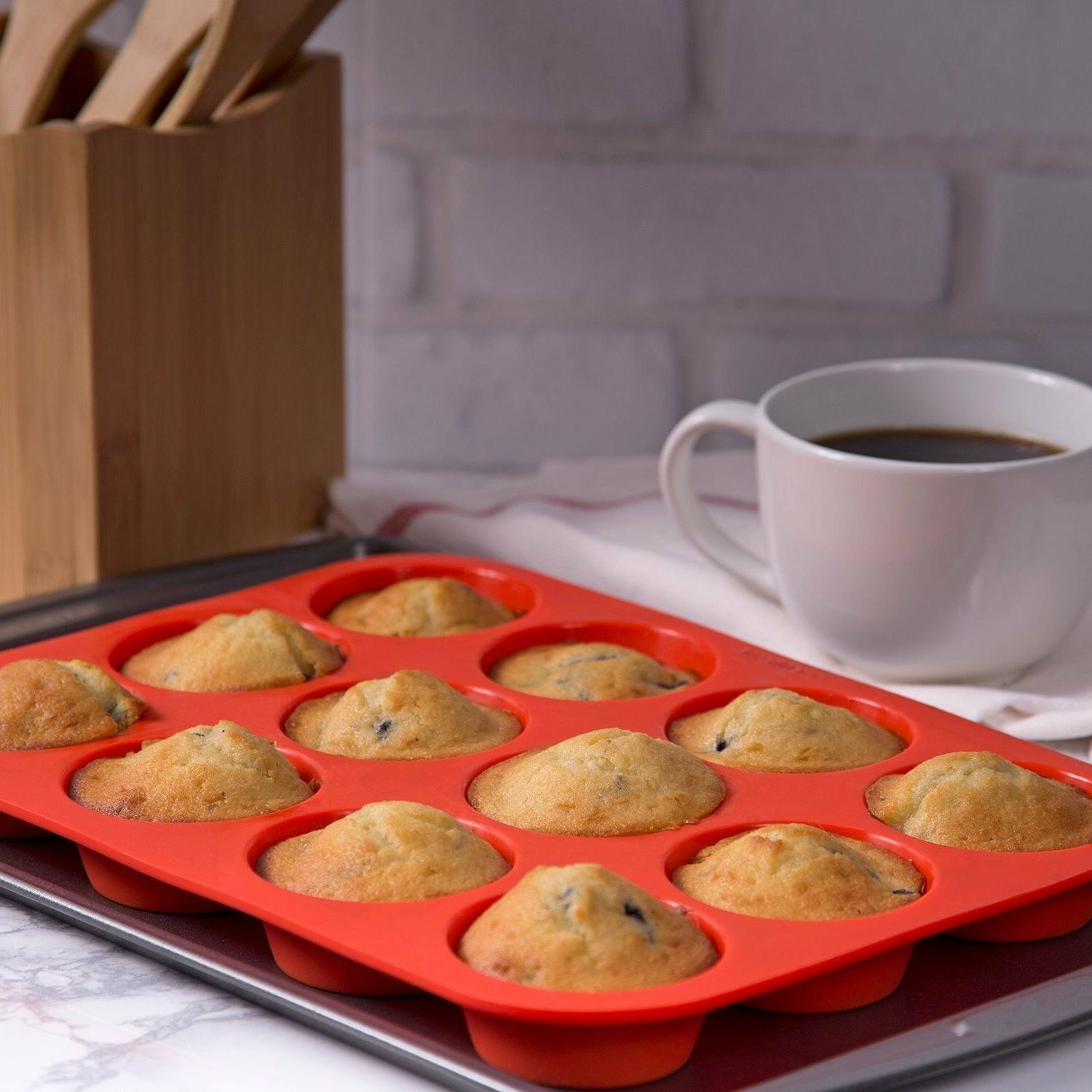 lot of 2 each Silicone Muffin Pan brand