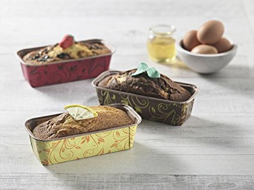 Premium Personal Mini Paper Baking Loaf Pan, Perfect for Banana Bread Yellow Set EcoBake