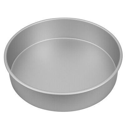 new silver anodised round cake pan 30