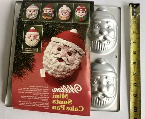new vintage 1983 mini santa cake pan