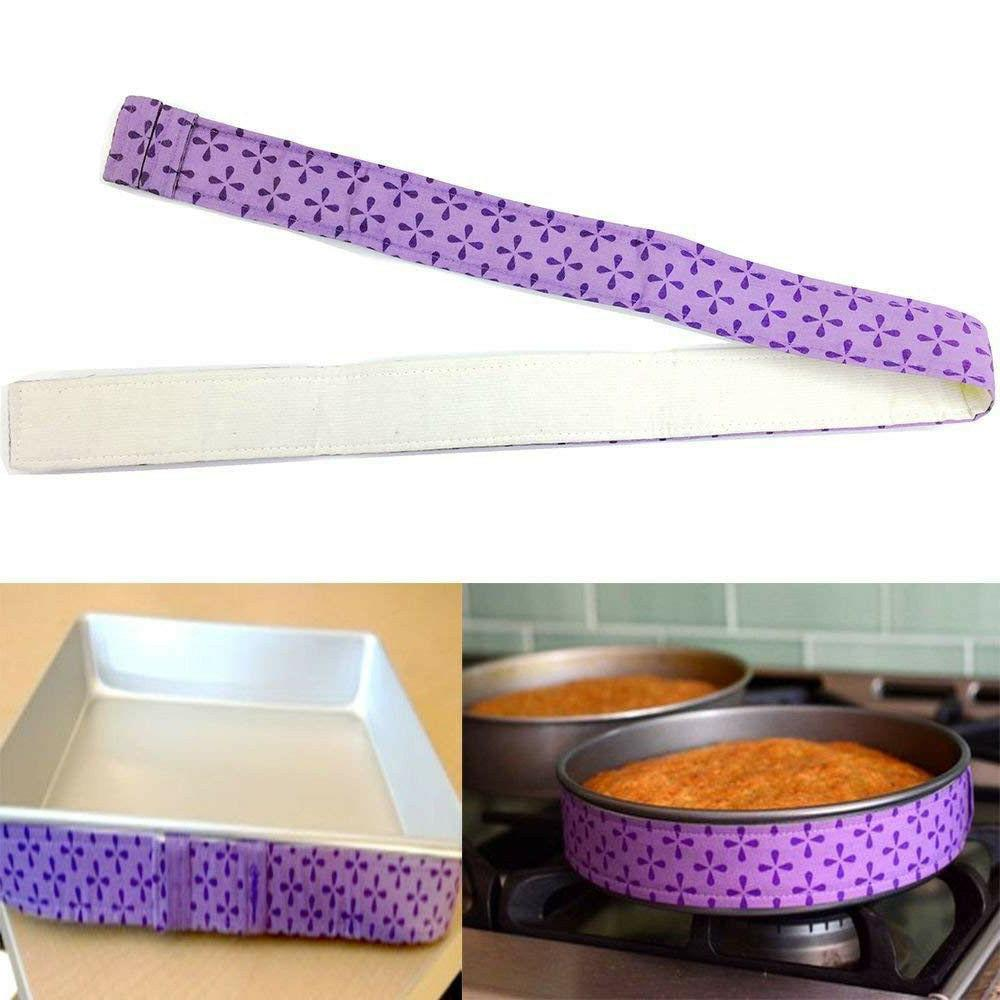 Nice Cake Bake Even Strip Bake PurPle Fabric Baking Tool