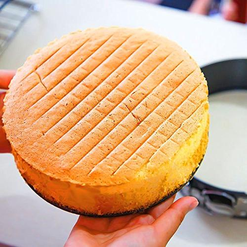 Hiware Non-stick Cheesecake Pan Pan with Removable Bottom/Leakproof Pan Bakeware with Cloth