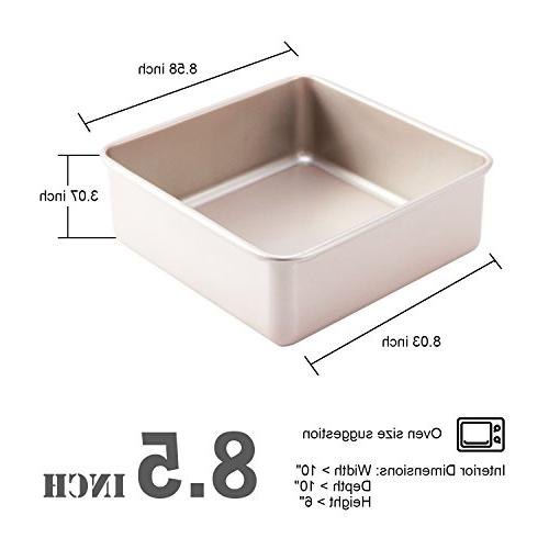 CHEFMADE 8.5-Inch Square with Non-stick Steel Pan, FDA Oven