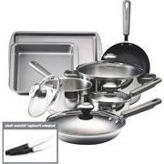 Farberware 13-Piece Non-Stick Stainless Steel Cookware Set