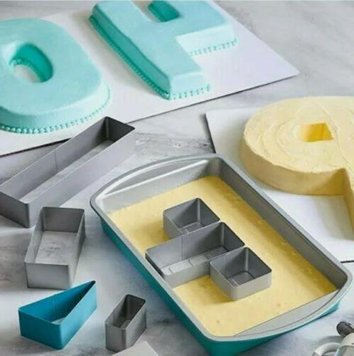 numbers and letters cake pan w inserts