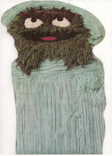 Wilton Oscar The Grouch In Trash Can Cake