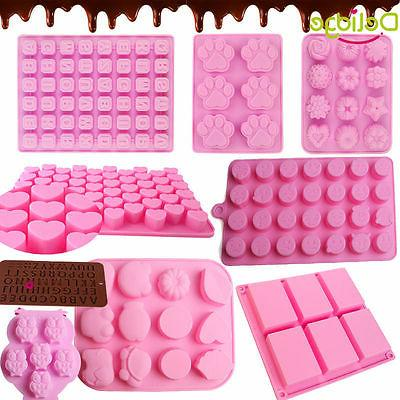 Silicone 3D Chocolate Soap Mold Cake Candy Baking Mould Baki